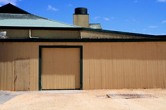 bleasdale shed, langhorne crk, SA (eldon2042) Tags: door yellow shadows south australia corrugated gravel corrugatediron