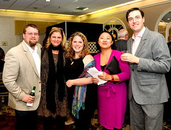 From Pennypack Farm: board member Anthony Spangler; board member Kim Reese; PFEC Executive Director Julie McCabe; board member Qie Zhang; and Erik Carlsson