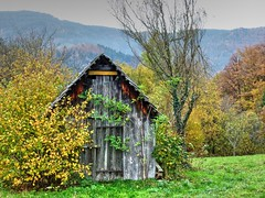 Hay Sheds of Murg Valley 07 (MJWoerner49) Tags: blackforest hut murgtal murg murgvalley northernblackforest gernsbach reichental forbach gausbach barn shed hay haybarn hayshed autumn