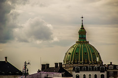 Like in Rome (Melissa Maples) Tags: copenhagen denmark europe nikon d5100   nikkor afs 18200mm f3556g 18200mmf3556g vr dome church frederikskirke clouds green
