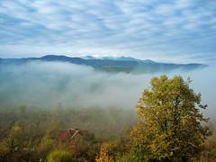 Misty morning (R_Ivanova) Tags: nature landscape mist fall autumn fog tree mountain mountainside hill sky cloud clouds color colors house sony bulgaria rivanova риванова българия старапланина мъгла природа пейзаж есен дърво