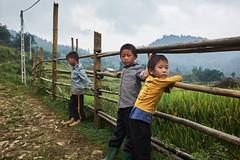Sapa Kids (Wolfics) Tags: people vietnam street route road north sapa lao cai trekking trek dirt kids children black hmong x100t fujifilm