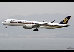 Airbus | A350-941 | Singapore Airlines | 9V-SMD | Hong Kong | HKG | VHHH (Christian Junker | Photography) Tags: nikon nikkor d800 d800e dslr 70200mm plane aircraft airbus a350941 a350900 a359 a350 a350xwb singaporeairlines sia sq singapore sia890 sq890 singapore890 9vsmd staralliance heavy widebody arrival landing 25r beacon airline airport aviation planespotting 037 hongkonginternationalairport cheklapkok vhhh hkg clk hkia hongkong sar china asia lantau terminal2 t2 skydeck christianjunker flickrtravelaward flickraward zensational hongkongphotos worldtrekker superflickers