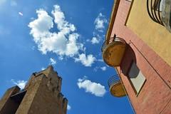 Oristano (mikael_on_flickr) Tags: oristano sardegna sardinia sardinien sky cielo himmel blu blue bleu blau bl skyer nuvole clouds summer sommer estate architecture architettura arkitektur skyarchitecture tower torre