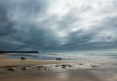 Empty Autumn beach (brianmiller006) Tags: clouds beach seashore sand pembrokeshire wales