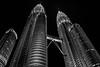 Kuala Lumpur in black & white (zoomleeuwtje) Tags: kuala lumpur malaysia bw petronas towers