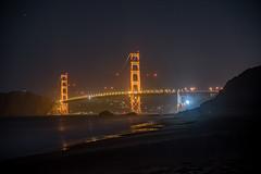 Golden Gate Bridge (night shot from Baker Beach) (ansonvandoren) Tags: golden gate goldengate bridge sanfrancisco longexposure night light