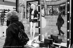 Mid-Season Sale (gwpics) Tags: german commerce hamburg window memories reflection people shop mono underwear advertising female germany streetphotography blackwhite blackandwhite monochrome person socialcomment socialdocumentary society store straenfotograpfie bw lifestyle streetpics