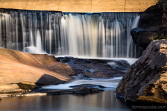 Mansfield Hollow Dam (Tom Kaszuba) Tags: waterfall 24105f4 mansfieldconnecticut mansfieldhollowdam 10stopnd bigstopper longexposure