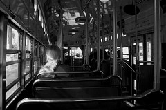 Muni scene.   San Francisco. (samuel.musungayi) Tags: samuel musungayi samuelmusungayi photography photographie life noir blanc bw white black muni sfc bay area san francisco embarcadero tramway transport public urban street scene people california travel candid