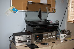 Small vs Big Hi-fi components (Stephen Coates) Tags: hifi aiwa akai technics project