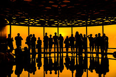 See you later (Valter Patrial) Tags: yellow sky sunset color travel night sun light architecture beautiful orange dubai tour uae burj khalifa explore inexplore