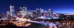 Calgary Downtown Night Sky (Bluesky251) Tags: calgary alberta canada home downtown night dark beautiful light cityscape bow river sunset stars sky
