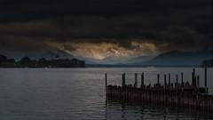 Lake Chiemsee, Nunnery (Alta Alteo) Tags: chiemsee lake wolken wasser dunkel abend berge chiemgau gstadt übersee bayern bavaria spiritofphotography