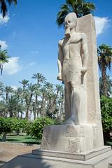 Ramses standing in memphis