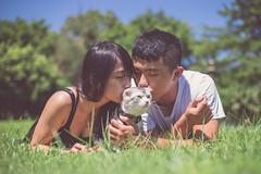 IMG_0304 (Kevin---007) Tags: couple cat pard green grass por portrait