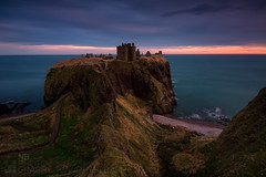 Dunnottar Castle (GenerationX) Tags: aberdeenshire barr canon6d dunechtestate dunnottarcastle dnfhoithear hamlet neil northsea scotland scottish stonehaven thehoncharlesanthonypearson autumn boats castle cliffs clouds dusk evening fullmoon gloaming landscape longexposure medieval panorama path rocks ruins sea silhouette sky sunset water unitedkingdom gb