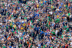 Notre Dame Vs Miami Crowd (scarletizm) Tags: crowd notredame people stand starspangledbanner pledge stands stadium college football