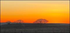 Sun just set = +++ horizon (loftjim1) Tags: weird sunset silhouette