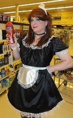 I smell of pomegranate and mango (rgaines) Tags: costume cosplay crossplay drag frenchmaid halloween shopping