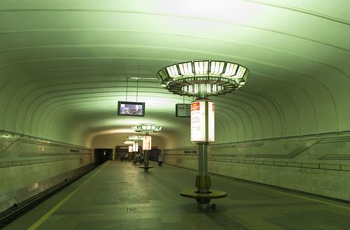 Traktornyi Zavod metro station, 01.05.2014.