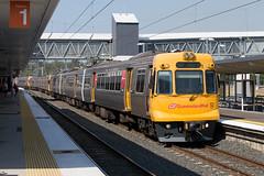 EMU Towing In Session (jamesmp) Tags: queenslandrail qr walkersltd asea abb electricmultipleunit emu intercityexpress ice electrictrain suburbantrain petrie queensland australia