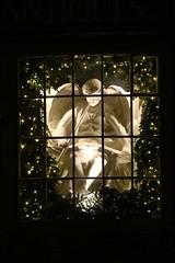 Xmas Window (Nick Fewings 4.5 Million Views) Tags: west sussex uk arundel light white nickfewings night winter december christmas xmas advent angel bright flickr window sparkle contrast dark chrismas nick fewings santa shop retail advertising