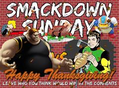 Smackdown Sunday- Thanksgiving Edition- Blob VS Matter-Eater Lad (Luigi Fan) Tags: blob vs mattereater lad marvel dc comics thanksgiving
