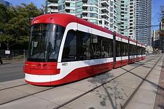 New Toronto streetcar 4421 (tom.gian) Tags: toronto 4421 redandwhite ttc bombardier harbourfront tomgian newstreetcar smoothride
