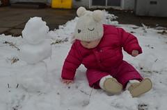 s n o w . g a l (dear emma rae) Tags: firstsnow2016 firstsnow snowday emmaoutside emmasnow babyplay babyoutside playday playoutside winter winter2016 babysfirstwinter babyphotos snowman