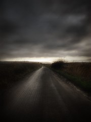 Bleak road.. (bluebell girl) Tags: landscape countryside vanishingpoint clouds sky grey road northsomerset england westcountry canong12 puxton