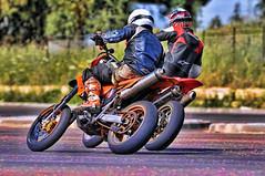 Two drivers. (driver Photographer) Tags:   aprilia cagiva honda kawasaki husqvarna ktm simson suzuki yamaha ducati daytona buell motoguzzi triumph bmv driver motorcycle leathers dainese