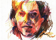 SIN RUMBO (GARGABLE) Tags: dibujos drawings sketch angelbeltrán apuntes lápicesdecolores experimentación gargable quijote