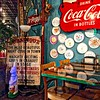 LILY'S PIZZA AND BURLESQUE (NC Cigany) Tags: cocacola pizza artwork burlesque coke color drpepper easterbunny food joint naughty paperplates restaurant sign soda