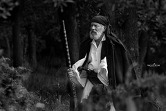 effective (dim.pagiantzas   photography) Tags: old men man male actors warrior weapons nature trees landscapes films movies cinematic cinema cine entertainment greek greece historical history grayscale monochrome outdoor canon