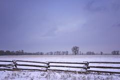 ranch life... (J. Kaphan Studios) Tags: fujixt1 ranchlife jacksonhole wyoming landscape landscapephotography fenceline trees bluehour