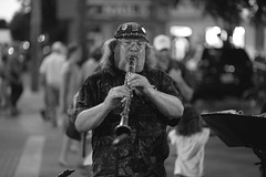 Musician at night (LC Lebaillif) Tags: musician horn streets night streetshot candid soul brass clarinet