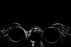 Zenith (jopperbok) Tags: jopperbok 7dos 7daysofshooting 7daysofschooting verrekijker binoculars binocular glass lenses black blackbackground blackwhite bw blackandwhite letters numbers number digit digits zenith product tabletop screw circle circles dark contrast monochrome lowkey minimal