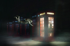 calling home (世界這麽大) Tags: phone phonehome telephonebooth booth spaceman night fog street imagination imagine photoshop manuipuation hongkong impossible floating flying call