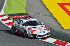 Porsche 911 GT3 / Kuba Giermaziak / POL / Verva Lechner Racing Team (Renzopaso) Tags: porsche911gt3 kubagiermaziak vervalechnerracingteam racing race motor motorsport photo picture gran premio espaa pirelli 2015 circuit barcelona circuitdebarcelona granpremiodeespaa2015 granpremiodeespaa granpremio