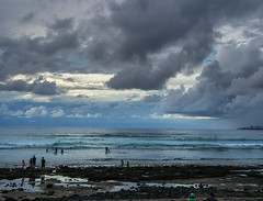 Surfers and Clouds (Fotodave42) Tags: beach tenerife spain clouds