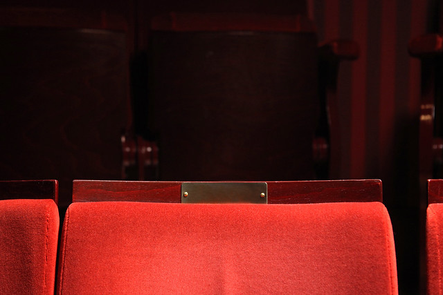 Blank seat plaque in the Royal Opera House ©2015 ROH. Photograph by Ruairi Watson