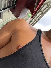 Moi un dimanche d'aot (loicthemodel) Tags: street man paris nipple skin chest torso peau torse sideblouse