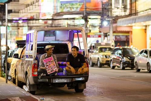 Taxi service, wait for customers, Hua Hin