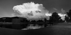 Cloudy in Phoenix (Yousif Hadaya) Tags: park summer arizona lake storm water phoenix grass clouds glendale cloudy monsoon peoria