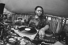 Josey Rebelle (RG Video) Tags: blackandwhite bw party dj music techno house lamamies la ferme du bonheur nanterre summer remygolinelli