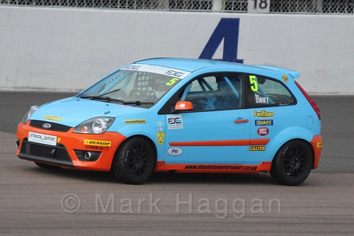 Ben Swift in Race 1, Fiesta Junior Championship, Rockingham, Sept 2015