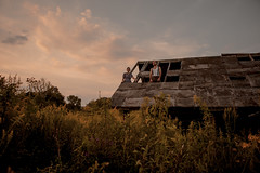 IMG_7321 (gianteyephotography) Tags: wood sunset portrait sky male broken nature female photography climb sticks model cabin couple tribal timeless
