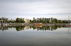 Kallahti (Jori Samonen) Tags: trees sea buildings finland boats helsinki cloudy vuosaari kallahti