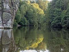 _8295350 Waiting for Lohengrin (idunavision) Tags: leica lake reflection water forest see rocks wasser olympus teich externsteine detmold ostwestfalenlippe